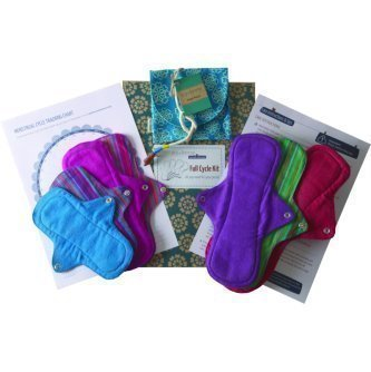 Reusable Cloth Menstural Sanitary Pad - Full Cycle Kit (Pack Of 7) | SpreeIndia.com - India's First Website That Discovers Eco-Friendly Products