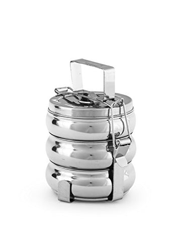 King International Stainless steel Belly tiffin box,lunch box 3 Tier | SpreeIndia.com - India's First Website That Discovers Eco-Friendly Products