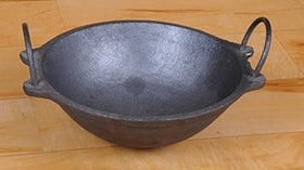 Traditional Cast Iron Kadai (7 Inches, 1.2 Kg Weight)