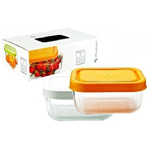 Pasabahce Snow Box Food Container, 420ml, Set of 2 | SpreeIndia.com - India's First Website That Discovers Eco-Friendly Products