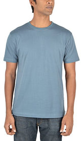 Woodwose Organic Clothing Men's Organic Cotton T-Shirt (OCMTSBG01-S, Grey, Small) | SpreeIndia.com - India's First Website That Discovers Eco-Friendly Products