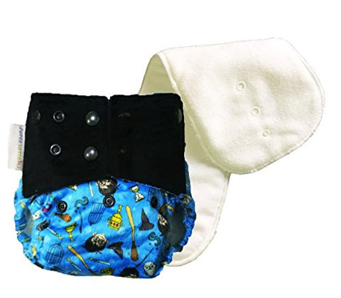 Superbottoms Cloth Diapers Supersoft Reusable Cover Diaper with 1 Stay Dry Soaker - Mischief Managed