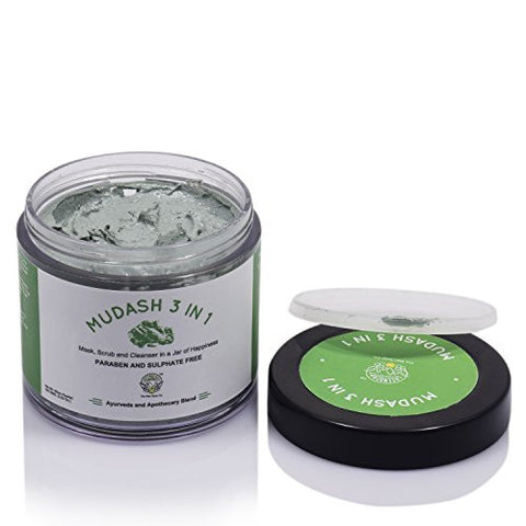Greenberry Organics 3 in 1 Mudash Facescrub (100gms) | SpreeIndia.com - India's First Website That Discovers Eco-Friendly Products