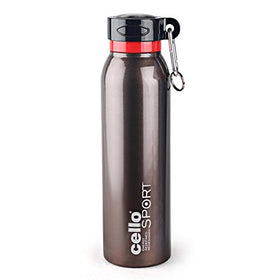 Cello Beatle Stainless Steel Sports Bottle, Brown | SpreeIndia.com - India's First Website That Discovers Eco-Friendly Products
