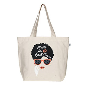 "EcoRight Large Tote Bag Reusable 100% Canvas Cotton EcoFriendly Printed ""Last Season"" (Natural) - 0201H02 