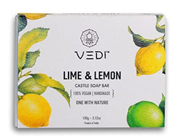 Vedi Lime & Lemon Castile Soap Bar, 100g | SpreeIndia.com - India's First Website That Discovers Eco-Friendly Products