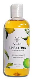 Vedi Lime & Lemon Liquid Castile Soap (200Ml) | SpreeIndia.com - India's First Website That Discovers Eco-Friendly Products