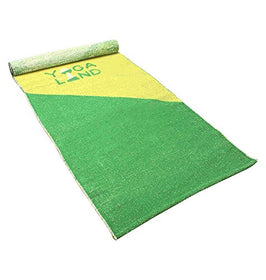 "Yoga Land Mat - Guru Lite 6mm, 25"" x 72"" (100% Cotton, ANTI-SLIP) 
