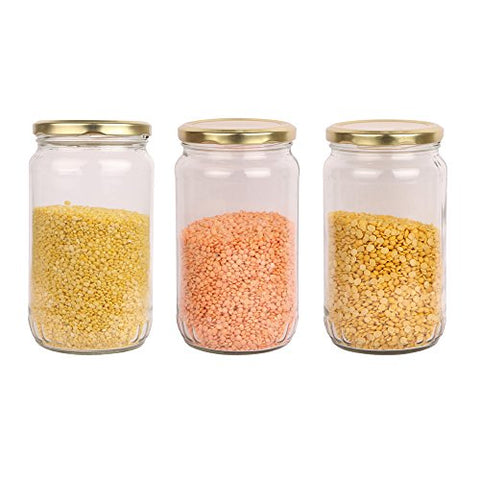 Pure Source India Good Quality 800 Gm Glass Jar Set Of 6 Jar | SpreeIndia.com - India's First Website That Discovers Eco-Friendly Products