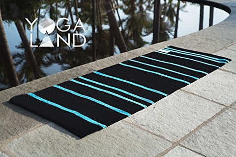 "Yoga Land Mat - Guru DarkPool - 6 mm, 25""x 72"" (100% Cotton, ANTI-SKID, Washable), Wt - 1.2 kgs 