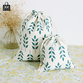 EasyBuy India small : grain pattern print cotton linen fabric bag Clothes socks/underwear shoes dust receive cloth bag home Sundry kids toy storag bag | SpreeIndia.com - India's First Website That Discovers Eco-Friendly Products