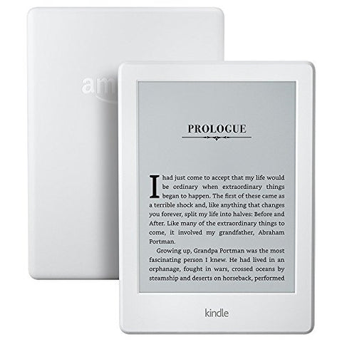 "All-New Kindle E-reader - White, 6"" Glare-Free Touchscreen Display, Wi-Fi"