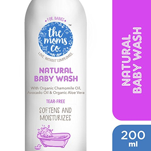 The Moms Co. Tear-Free Natural Baby Wash with Calendula, Avodado Oils and USDA-Certified Organic Oils Like Argan, Chamomile - 200ml
