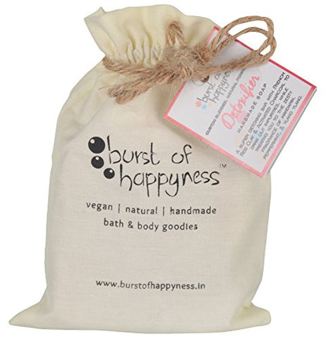 Burst Of Happyness Detoxifier Handmade Soap with Activated Charcoal 100 g | SpreeIndia.com - India's First Website That Discovers Eco-Friendly Products