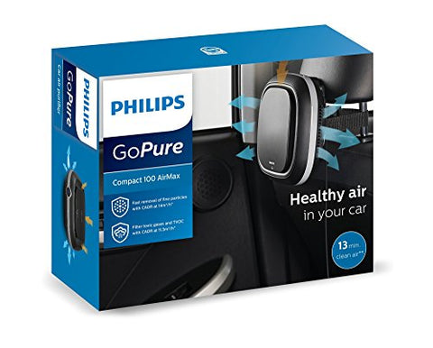 Philips GoPure Compact 100 Airmax Car Air Purifier (Black) | SpreeIndia.com - India's First Website That Discovers Eco-Friendly Products