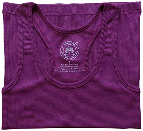 Woodwose Organic Clothing Womens Tank Top Pink - S | SpreeIndia.com - India's First Website That Discovers Eco-Friendly Products