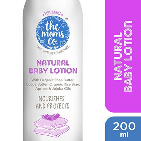 The Moms Co. Natural Baby Lotion with USDA-Certified Organic Apricot, Organic Jojoba and Organic Rice Bran Oils - 200ml