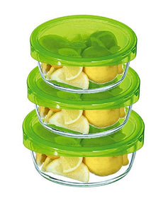 Luminarc Store & Serve Round Glass Box (3 Pieces)