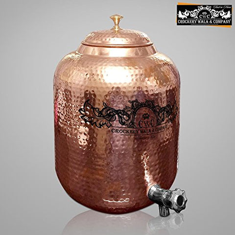 CwC Copper Water Pot Matka Tank Dispencer 11.5 Ltr | SpreeIndia.com - India's First Website That Discovers Eco-Friendly Products