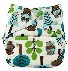 Bumberry Pocket Diaper (Trees) and 1 Microfiber Insert