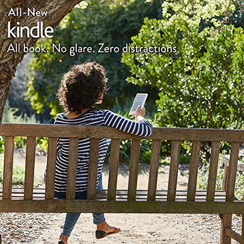 "All-New Kindle E-reader - White, 6"" Glare-Free Touchscreen Display, Wi-Fi 