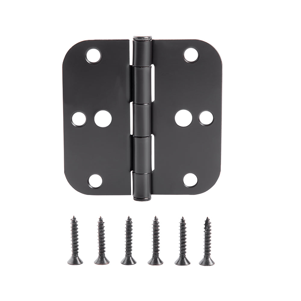 "Pack of 54 Residential Door Hinges Oil-Rubbed Bronze 3.5 Inch Interior Hinges with 5/8"" Radius Corners by Home Master Hardware"