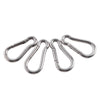 Stainless Steel Carabiner Clip Spring Snap Links 4 Pack Home Master Hardware
