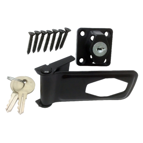 "Keylocking Hasp  - 3.5"" Black"