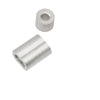 "Home Master Hardware 1/8"" Aluminum Double Barrel Ferrule Crimping Loop Sleeve and Crimping Stop Sleeve 200 Piece"