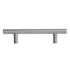 "Home Master Hardware 3.75"" (96mm) Hole Center Stainless Steel Kitchen Cabinet Bar Handle Pulls Euro Style 6-1/8"" Overall Length 10 Pack"