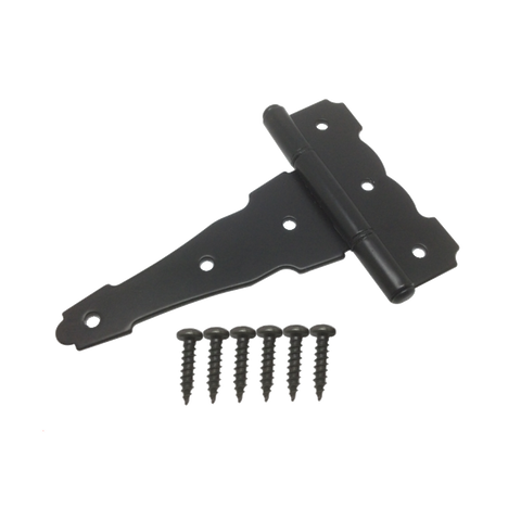"4"" Tee Hinge - Black Coated 2-Pack"