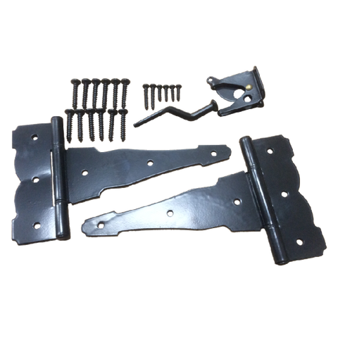 "Specialty Hardware Decorative Gate Kit in Black (include 40pcs 8"" Gate T Hinges & 20pcs Gate Latches )"