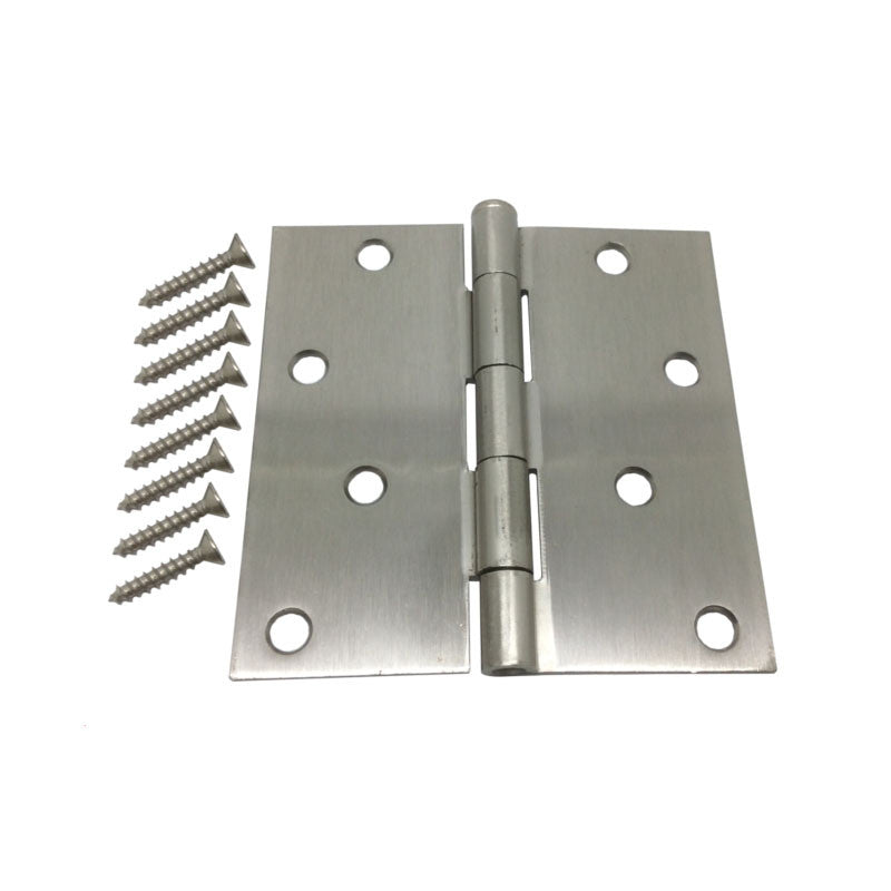 "4"" Hinge - Satin Nickel with Square Corners"