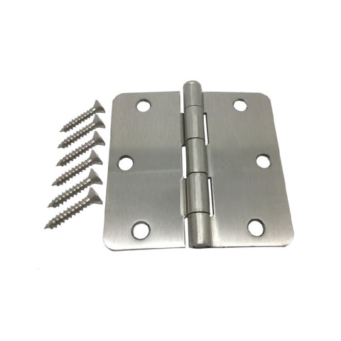 "3.5"" Hinge - Satin Nickel 1/4"" Corner Radius"