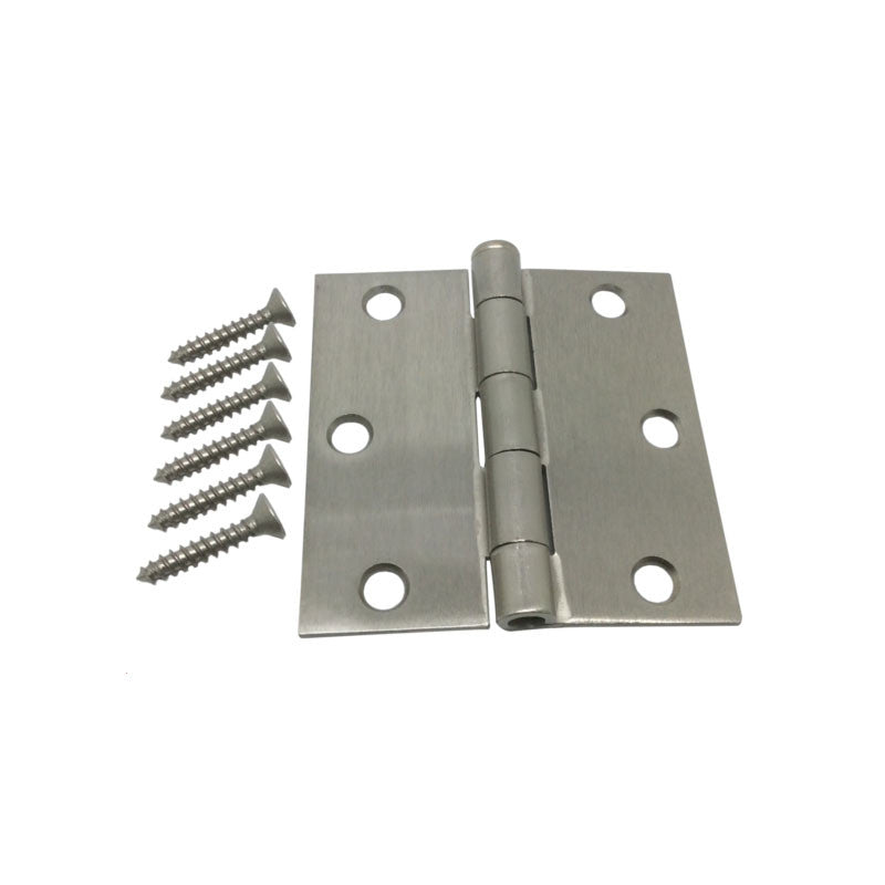 "3"" Hinge - Satin Nickel with Square Corners"