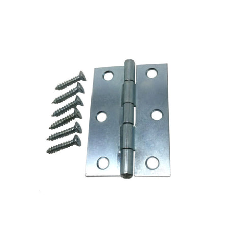 "2.5"" Hinge -  Zinc Plated Pin Hinge with Square Corner"