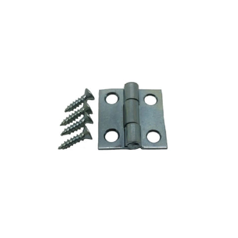 "1"" Hinge - Zinc Plated with Removable Pin 2-Pack"