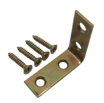 "Corner Brace - 1-1/2"" Satin Brass 4-Pack"