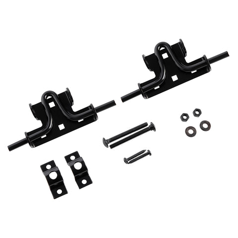 Slide Bolt Door Gate Latch Steel Black Finish 2 Pack Home Master Hardware