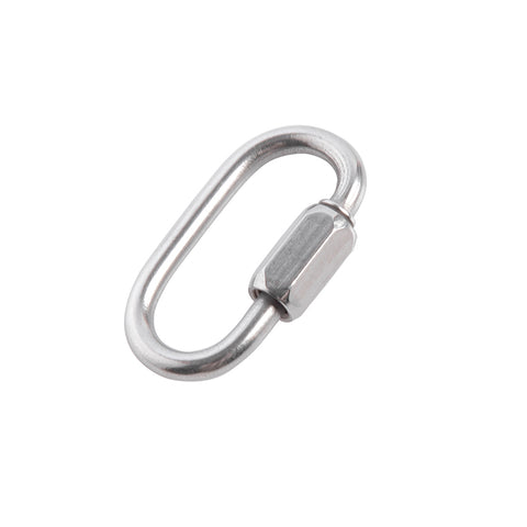 1/8 inch Stainless Steel D Shape Quick Link Chain Links  Locking 10 Pack Home Master Hardware