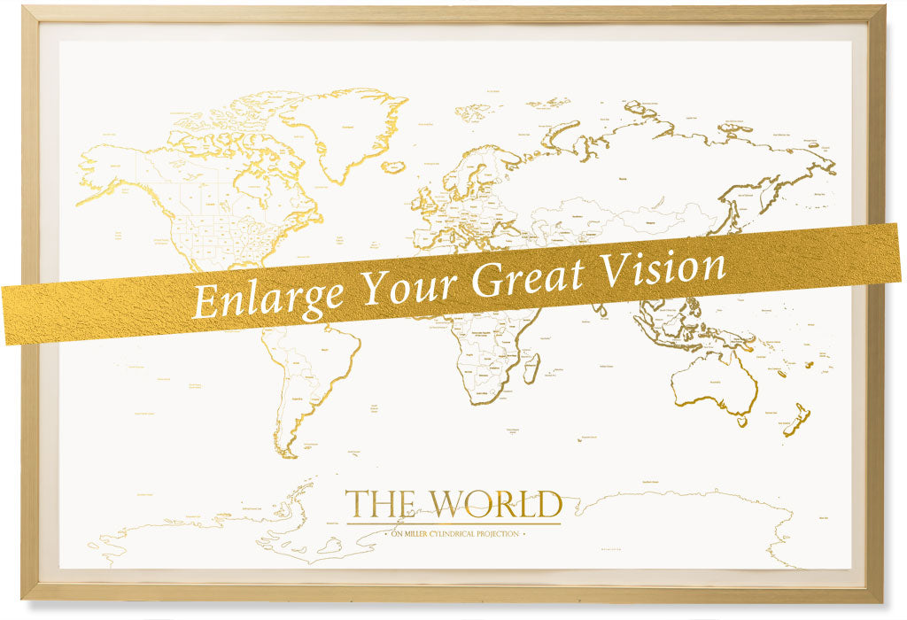 World map posters at kings map world map poster classic gold map gumiabroncs Images