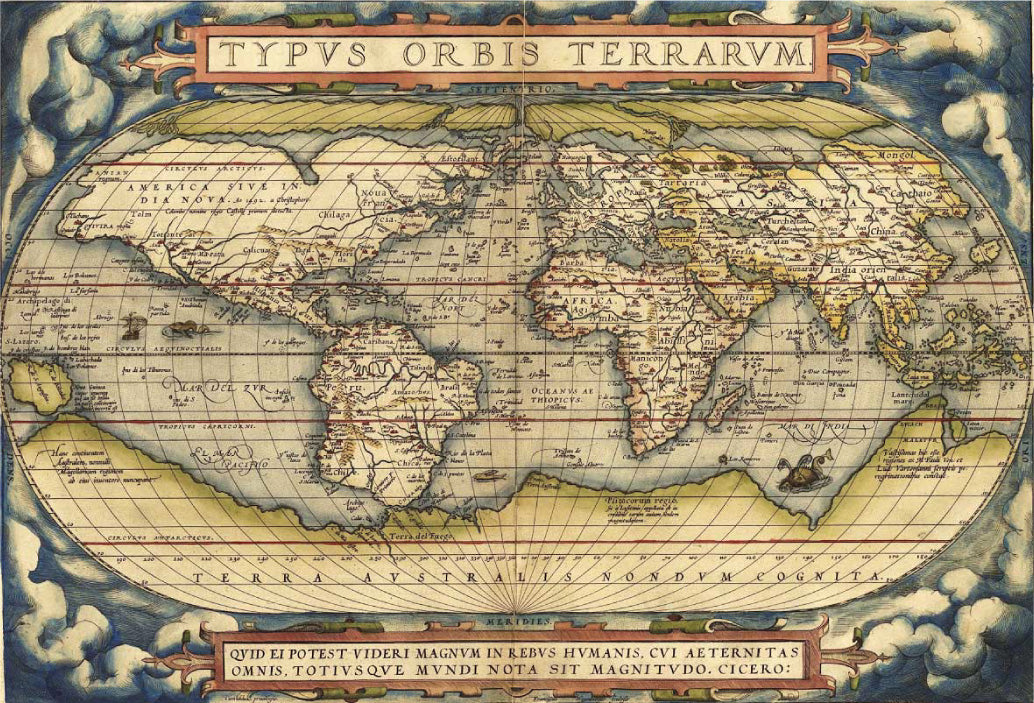 Brief map history by kings map kings map cartographer abraham ortelius 16th century map gumiabroncs Gallery