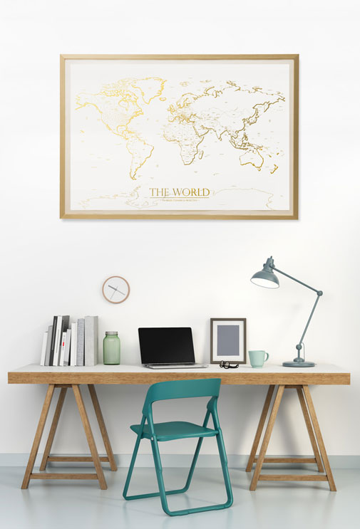 World map posters prints on new wall kings map workspace gumiabroncs Gallery