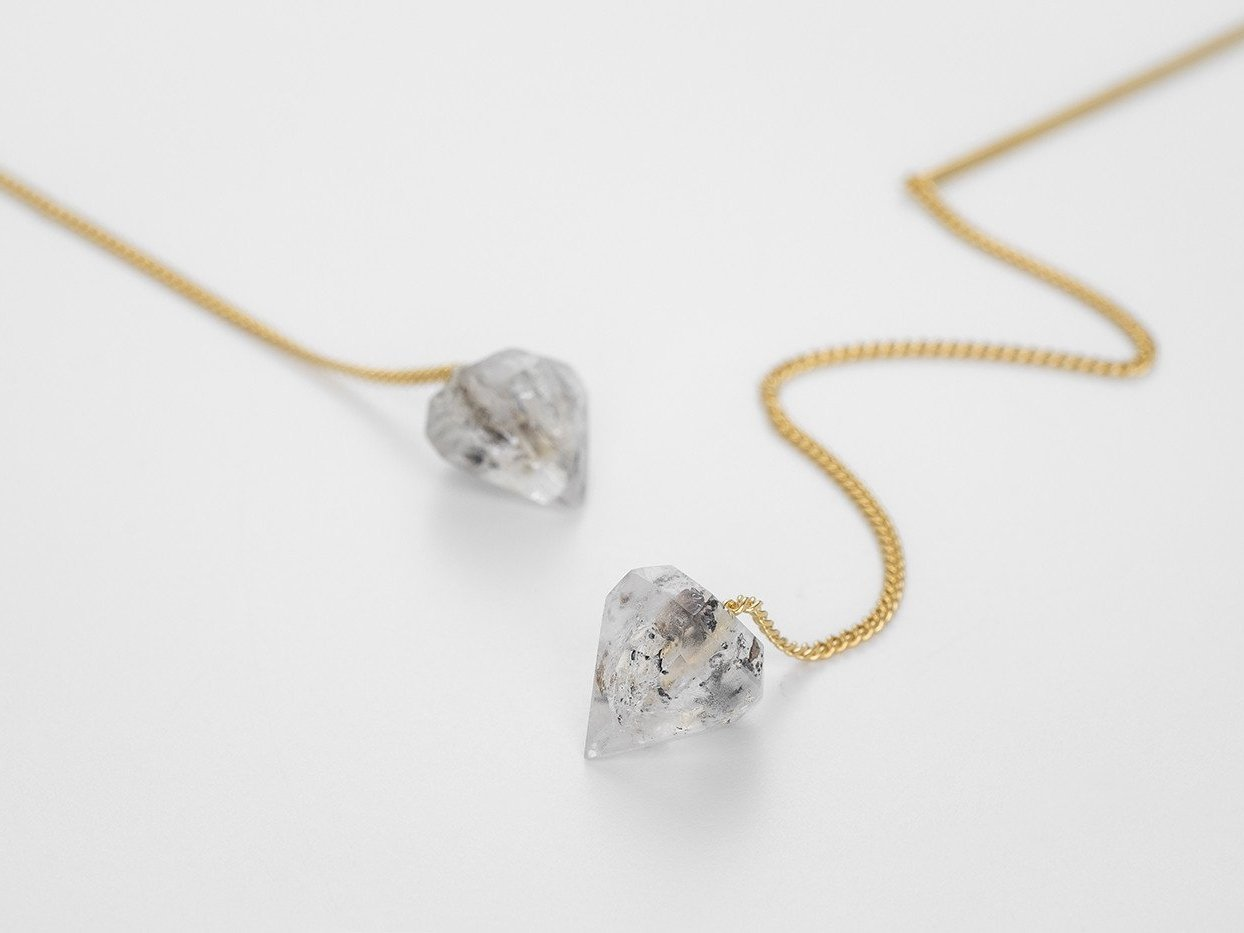 Herkimer Diamond Earpieces - Bjørg Jewellery