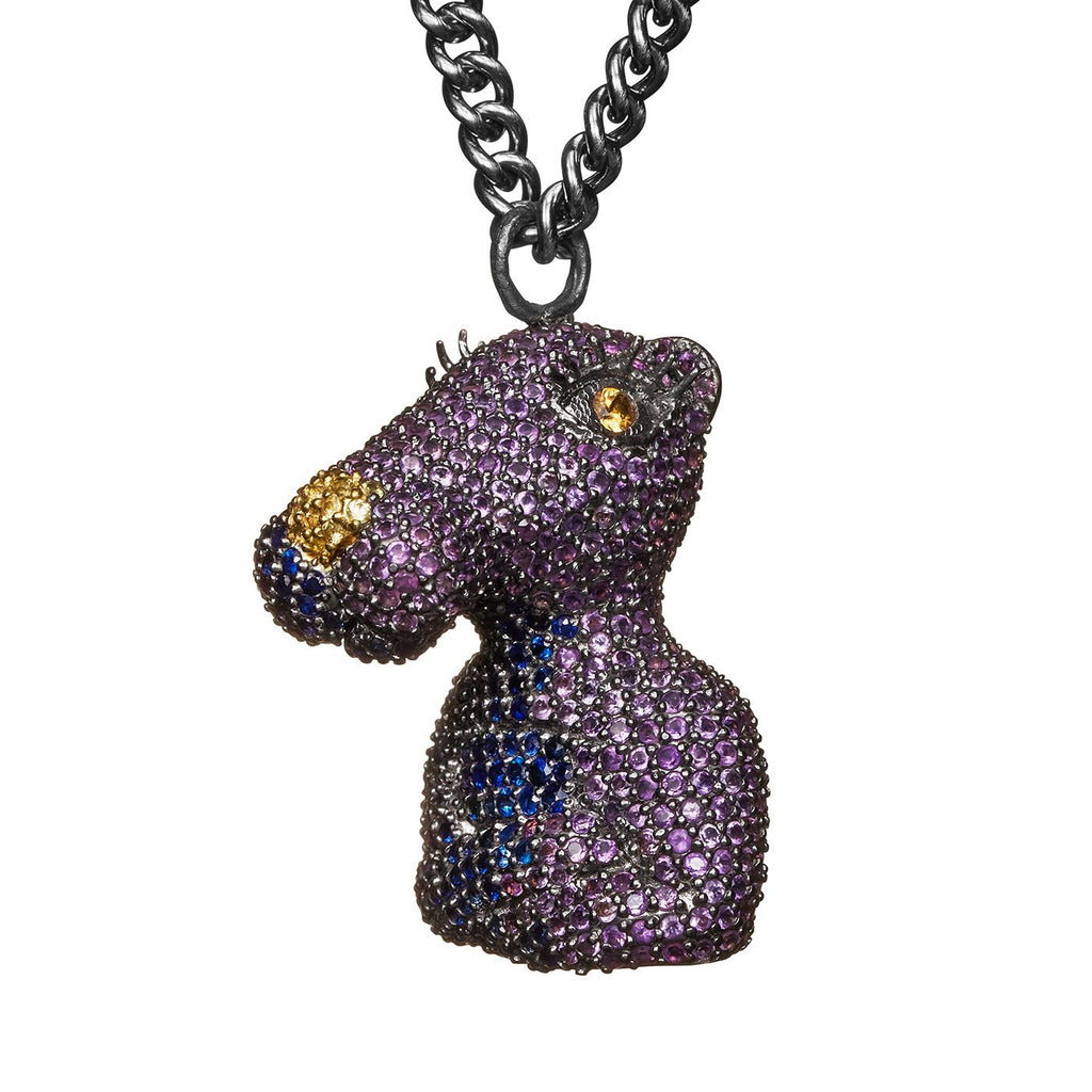 Purple Panther Necklace