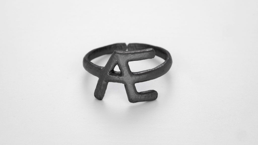 Black Alphabet Rings
