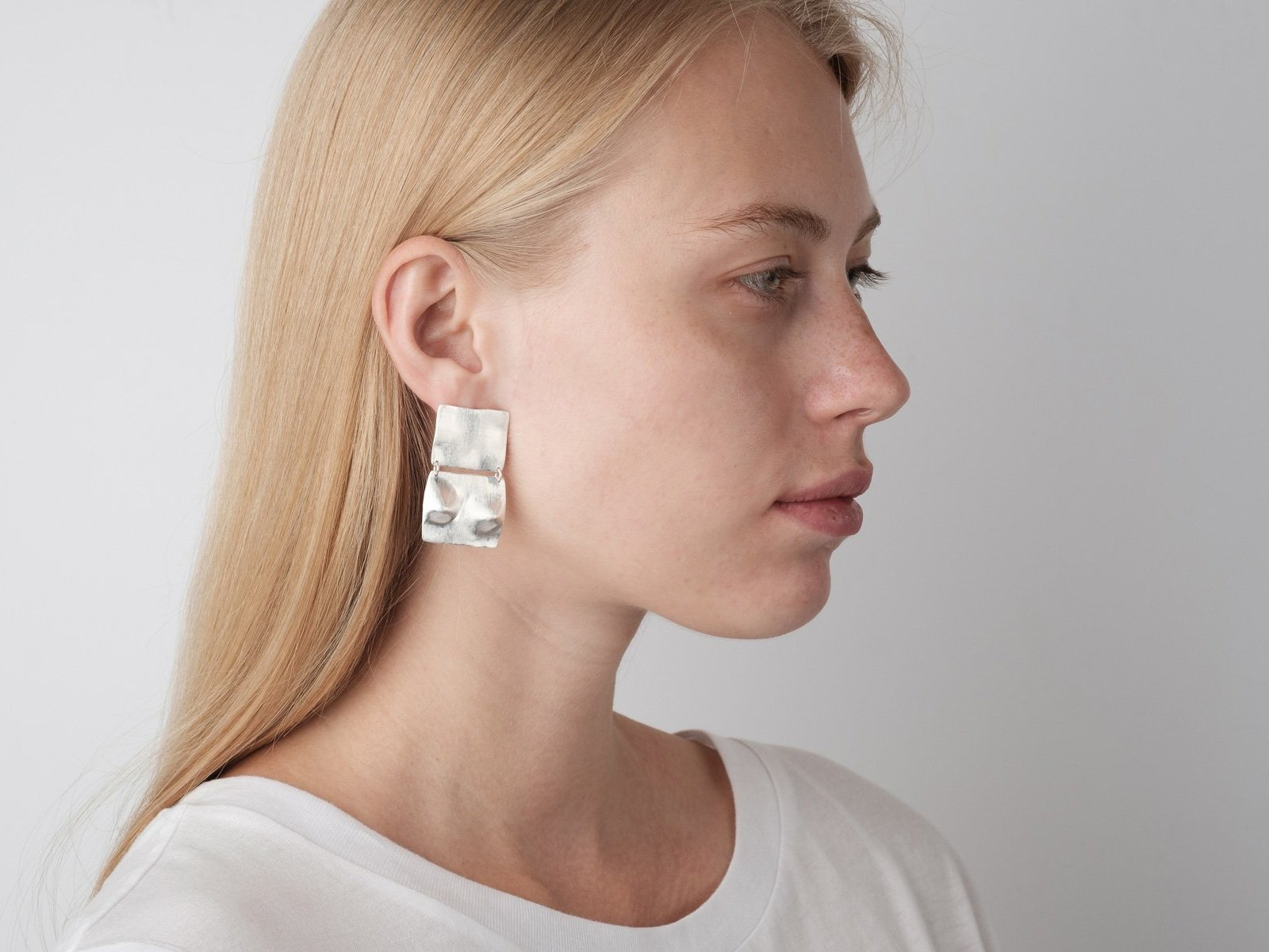 A place of beauty Silver Earpieces - Bjørg Jewellery