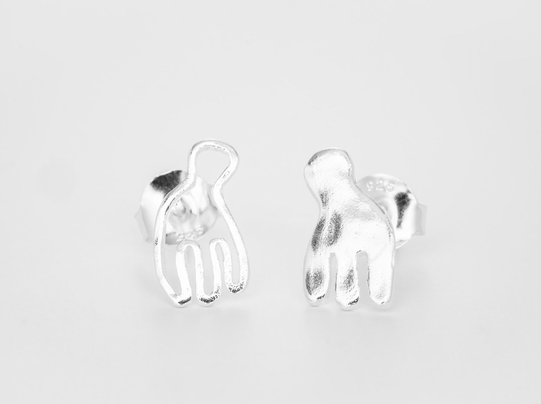 A winged being Earstuds - Bjørg Jewellery