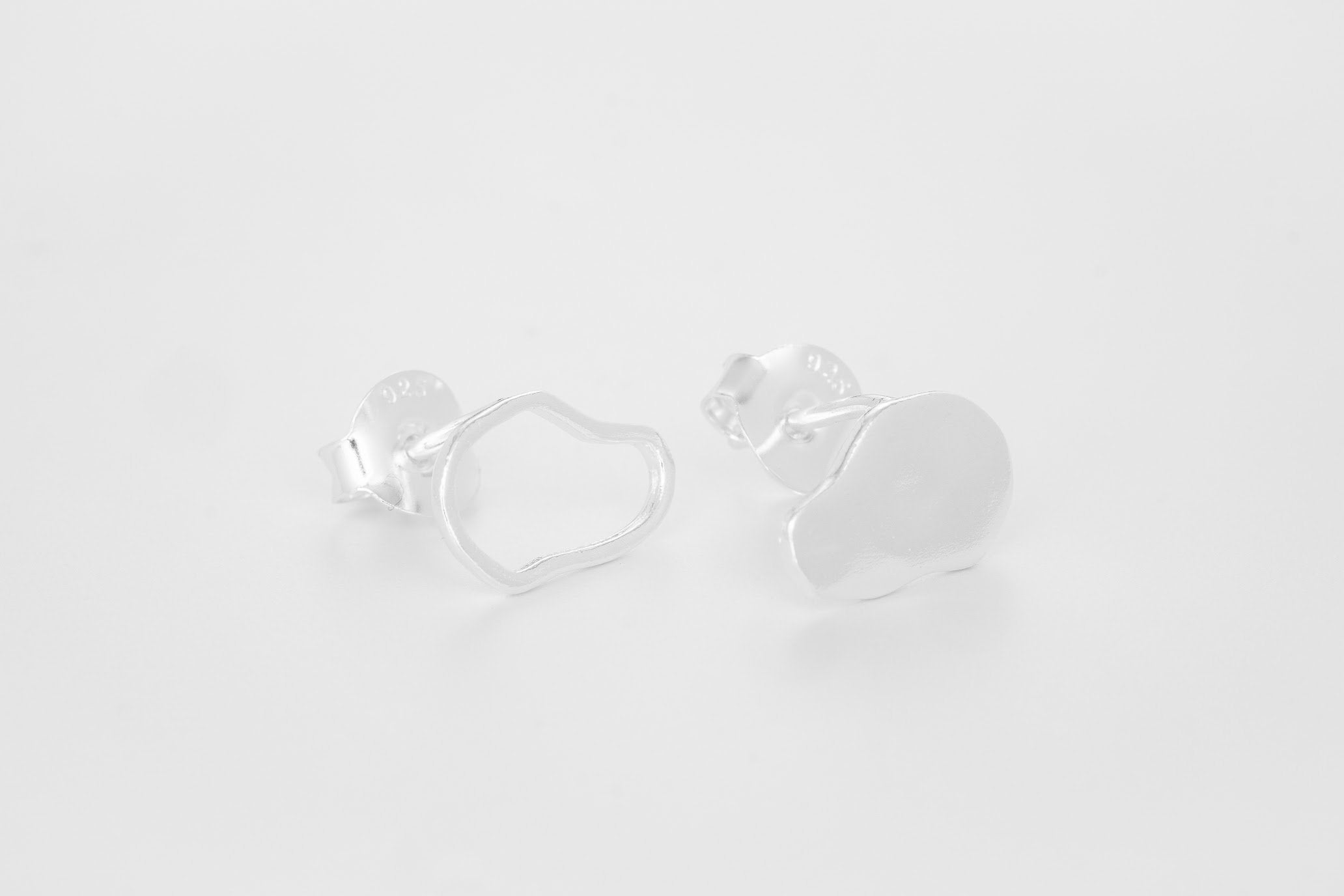 Clouds of stone Earstuds - Bjørg Jewellery