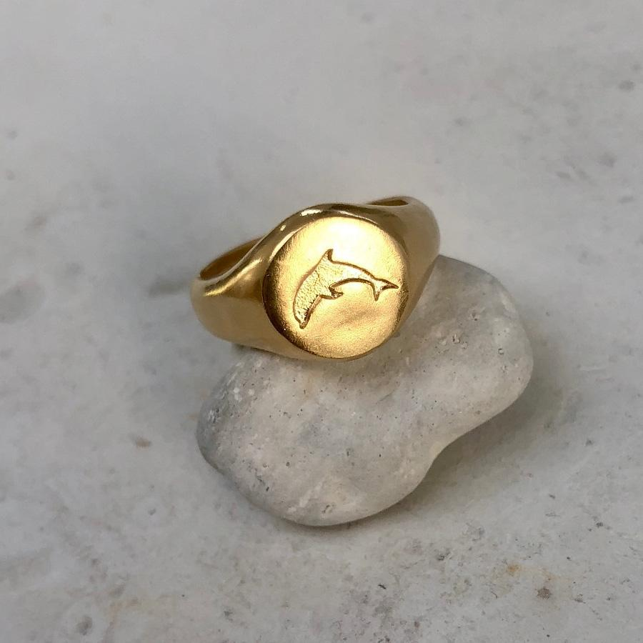 Herotic Dolphin Signet Ring